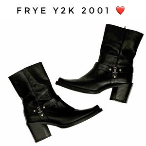 Frye Harness Y2K Mid Calf Square Toe Boot US 6